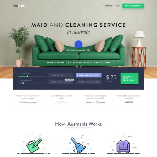 Maid & Cleaning Service Landing Page
