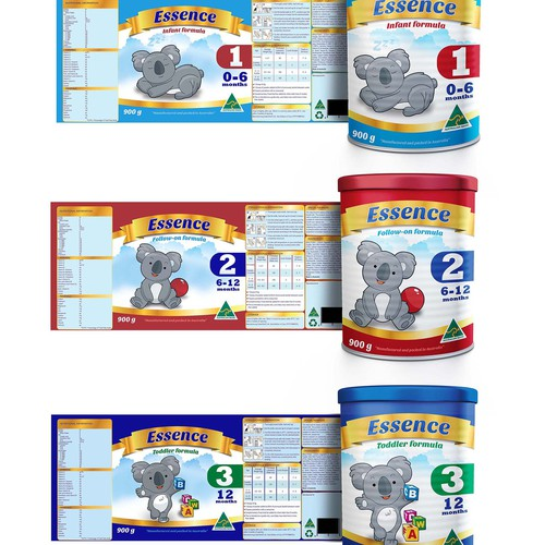 Create the next product packaging for Essence infant formula