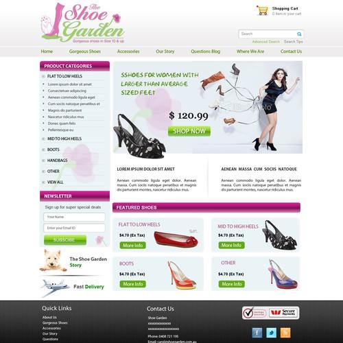 Shoe Garden needs a new website design