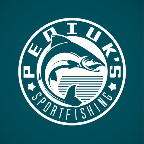 Create a logo for a fishing guide in the salmon fishing capital of the world.