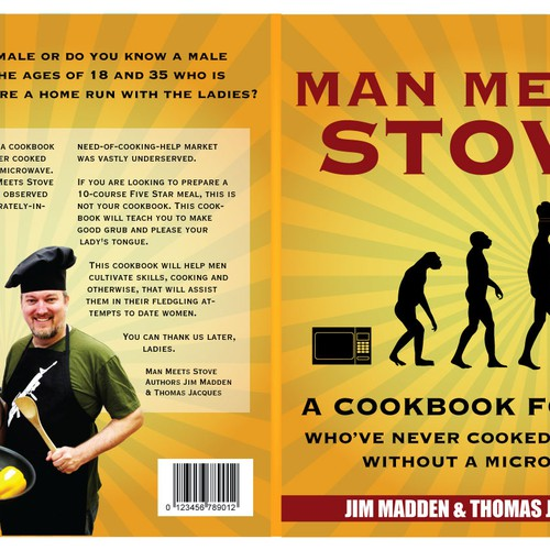 """Man Meets Stove"" needs a Book Cover"