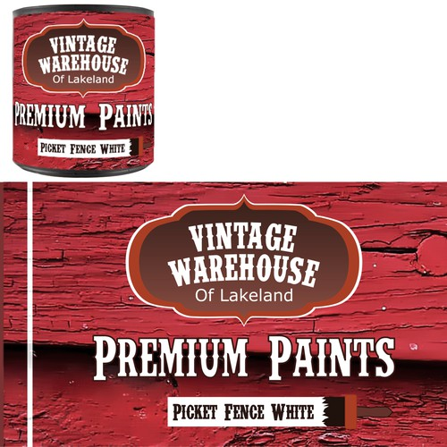 Paint Can Design for Private Paint Line - Barn Wood