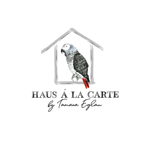 Watercolor logo for Haus à la Carte