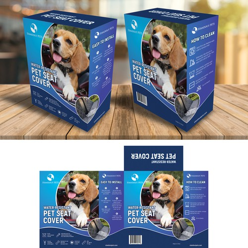 Pet Seat Cover Packaging Design