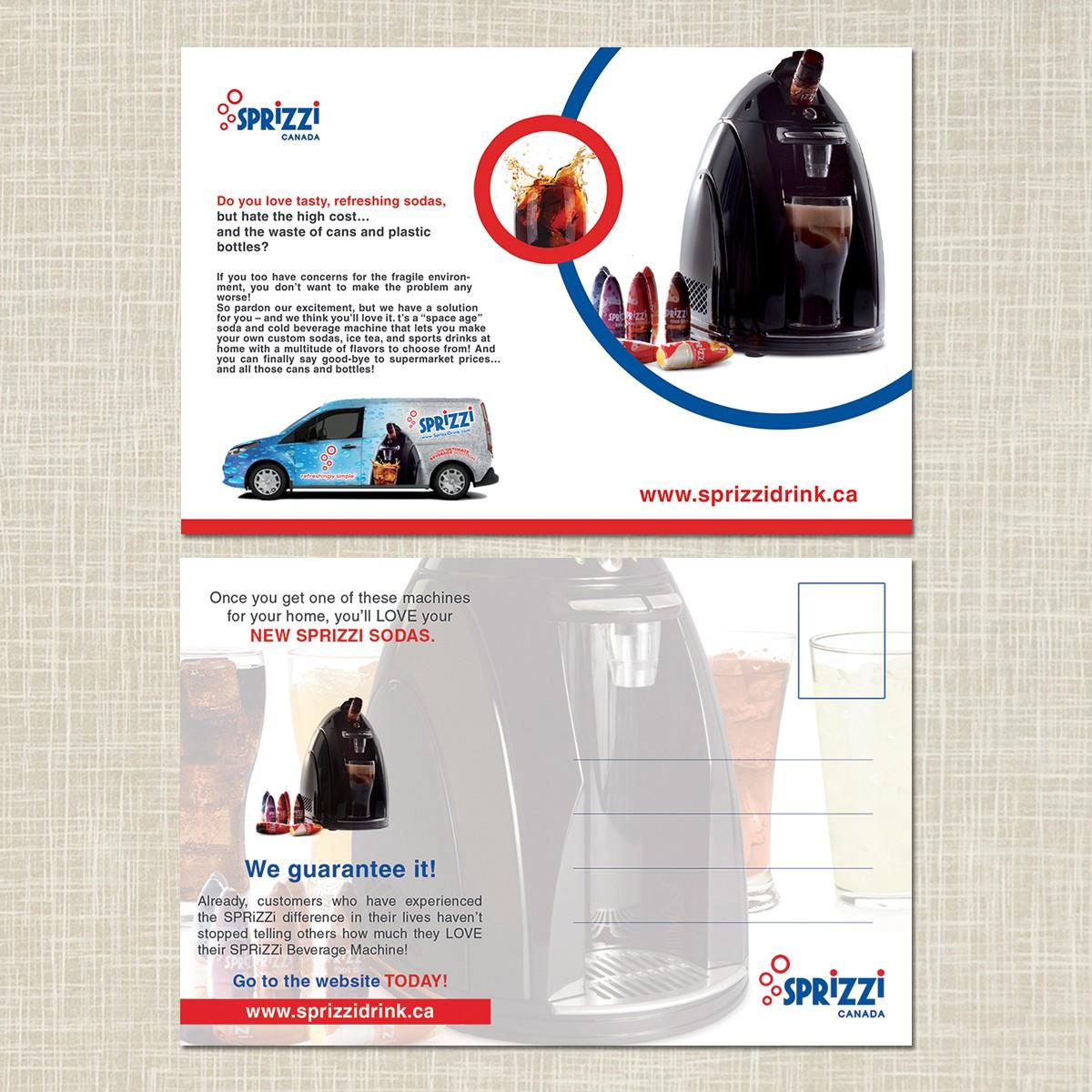 Create a Post Card for Sprizzi Drink Canada Ltd.