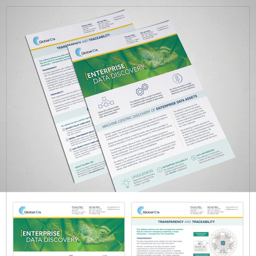 Product fact sheet redesign