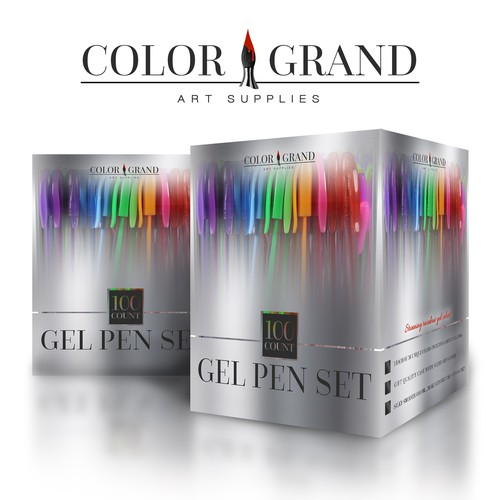 High end metallic  gel pen set