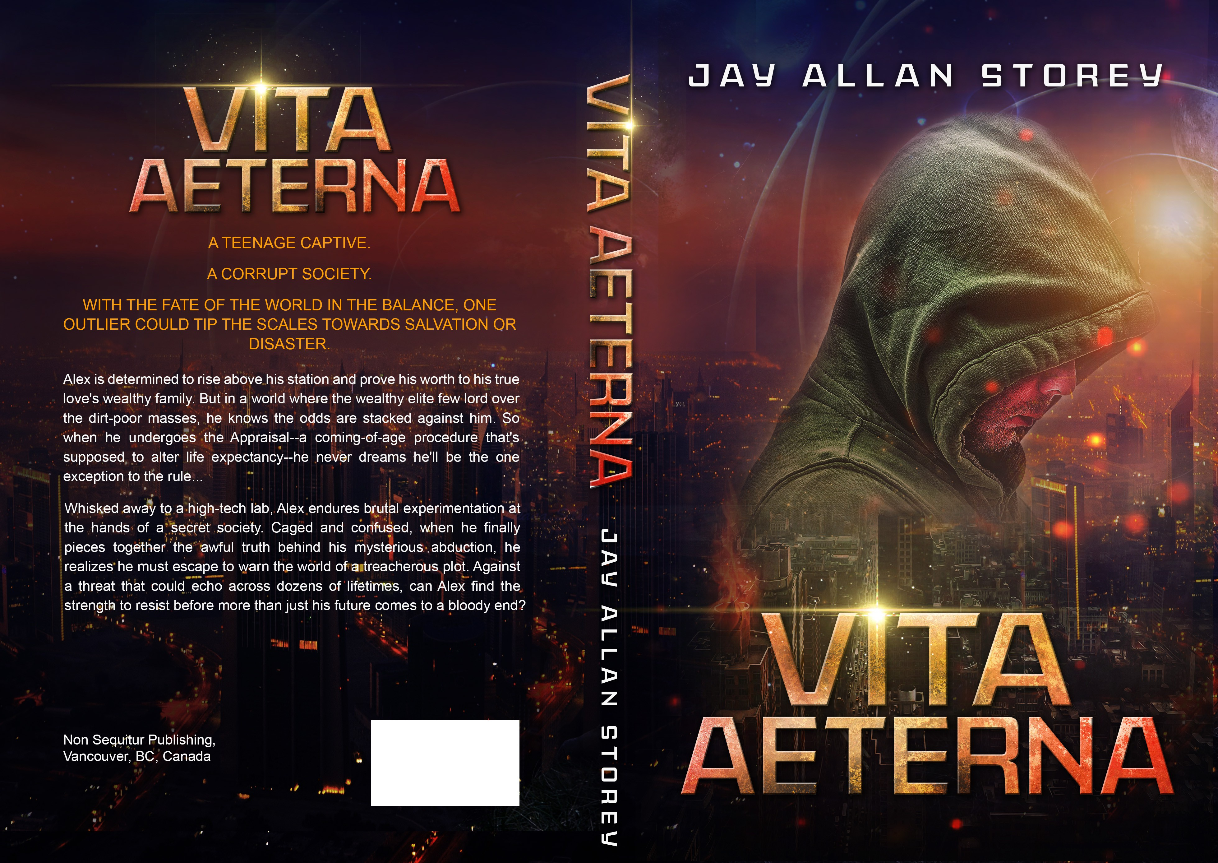 Design a cover for my heart-stopping YA/ScFi novel