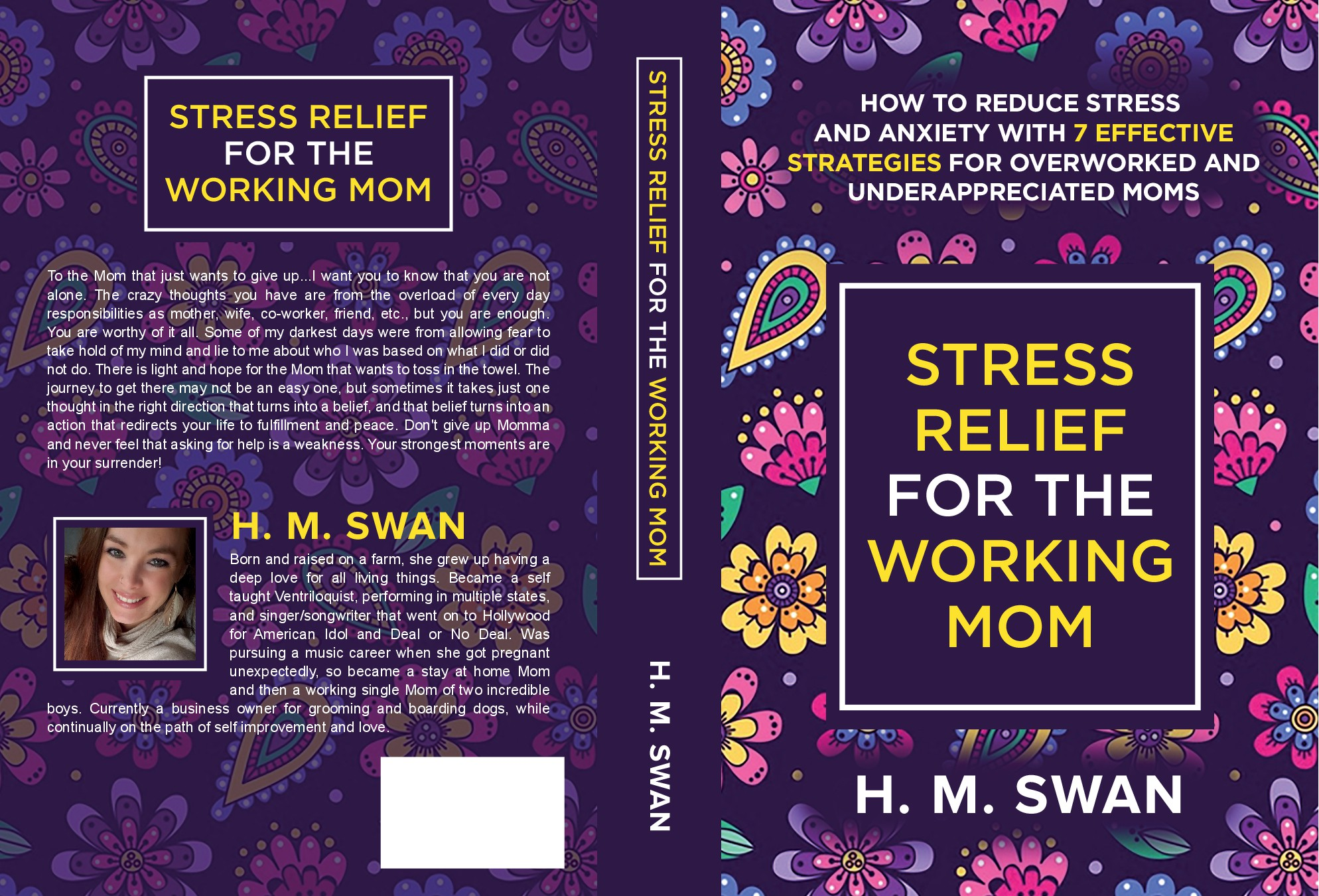 Looking for a feminine and empowering book cover for the stressed out Mom