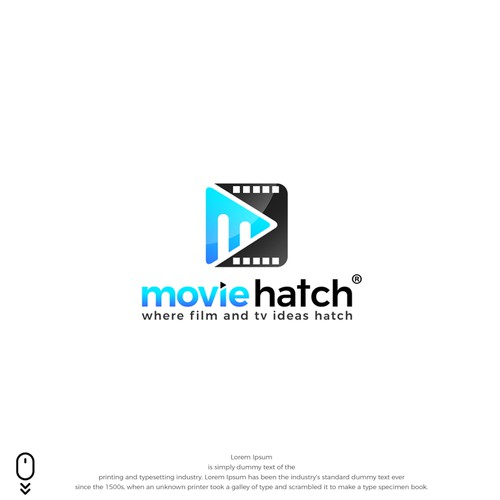 powerful logo for MovieHatch®