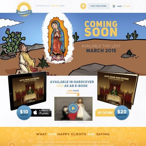 Catholic Prayer Book for Kids-- Landing Page