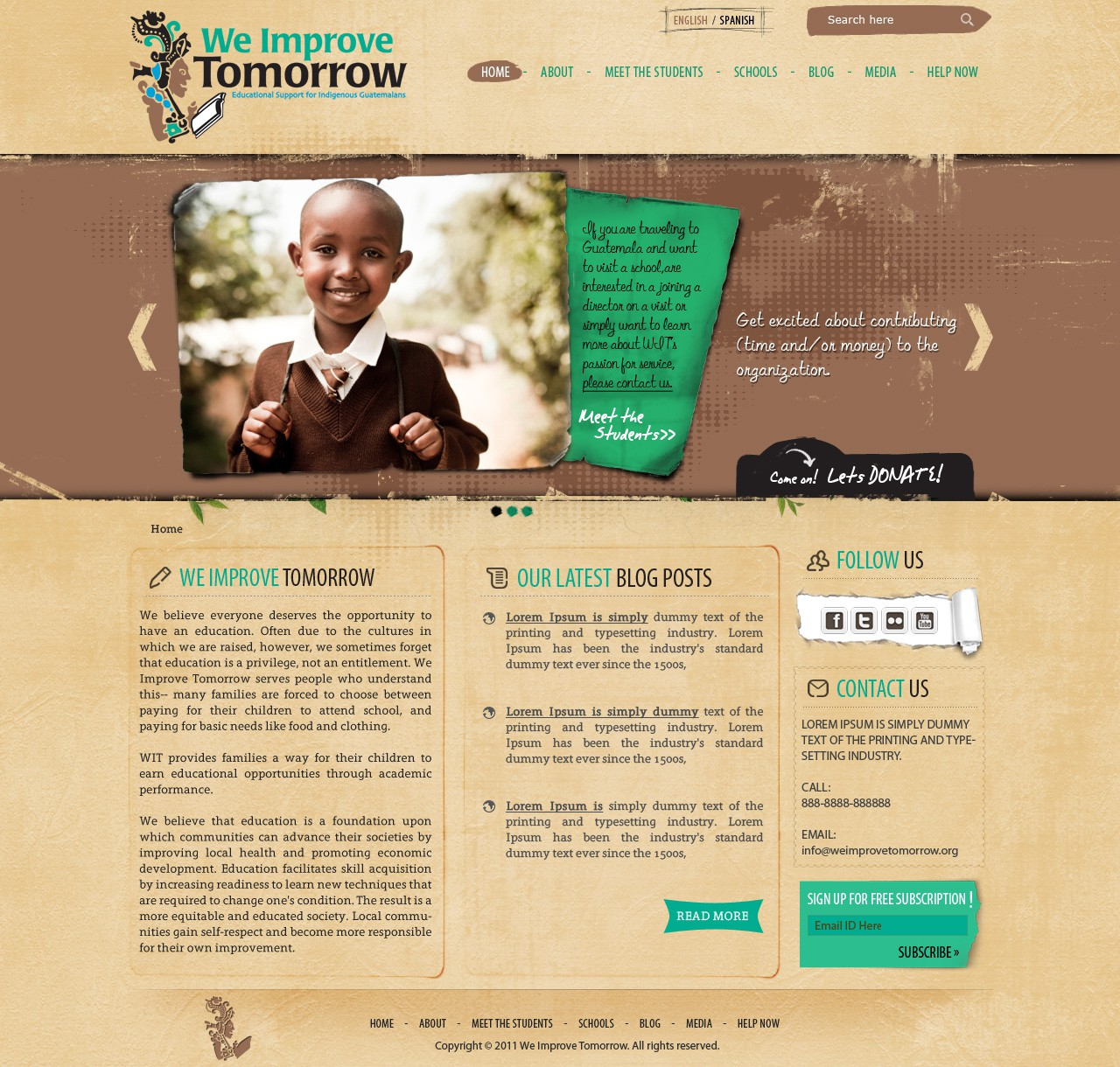 Want to design the next exciting WordPress site to help an education non-profit grow?