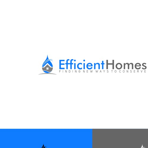 Need a clean/soft but small/simple company logo of efficient homes
