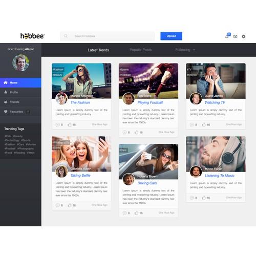 Social Media site for sharing Hobbies
