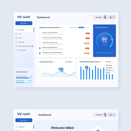 Wott Dashboard + App Design