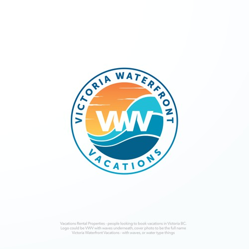 Create a wavy, fun, but also fancy logo for Vacation Rental company