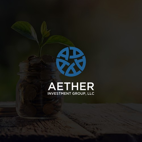 logo concept aether investment group
