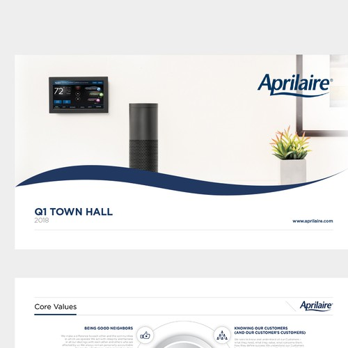 Powerpoint template design for Aprilaire Healthy Home