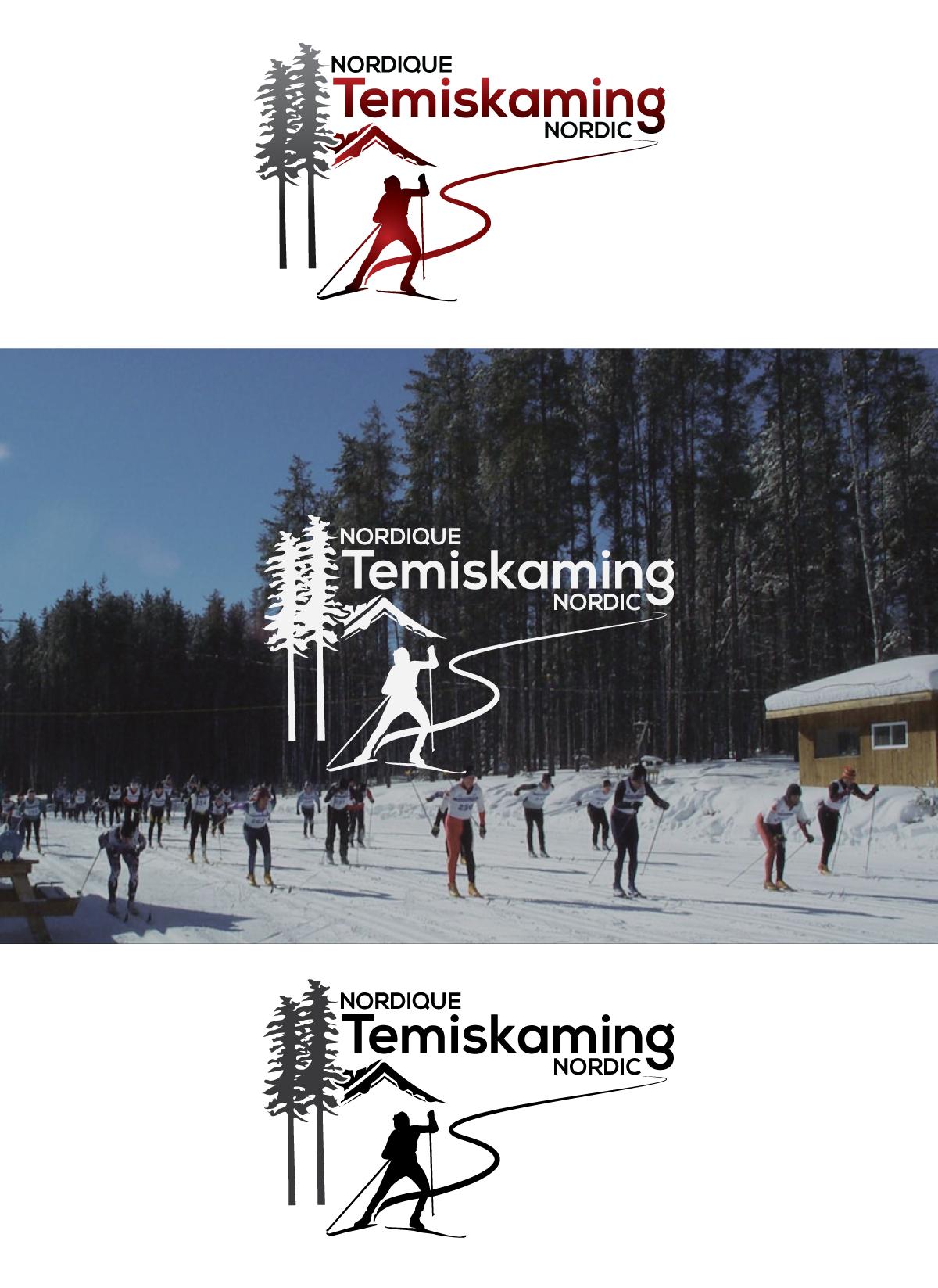 Temiskaming Nordic Centre - a modern logo