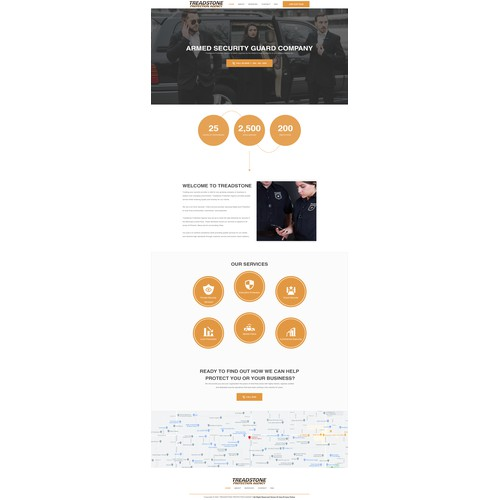 We Need A Strong Website Design For Leading Private Security Company