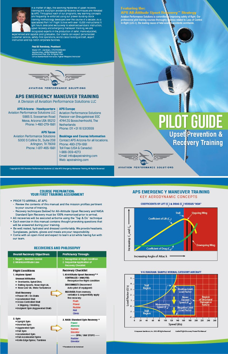 Advanced Pilot Training - Booklet Cover
