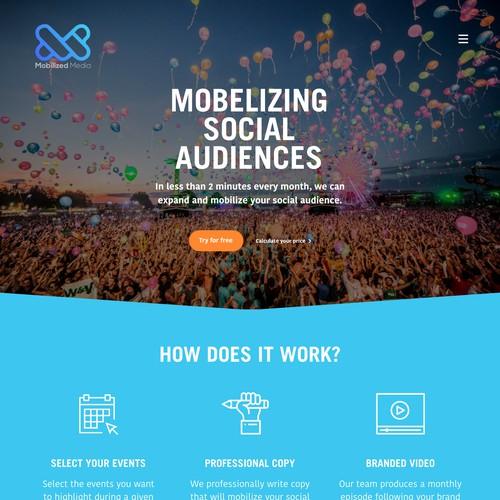 Homepage webdesign Mobelized Media