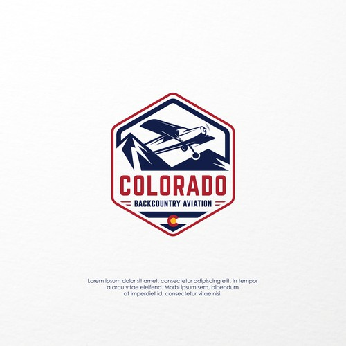 Logo concept for Colorado Backcountry Aviation
