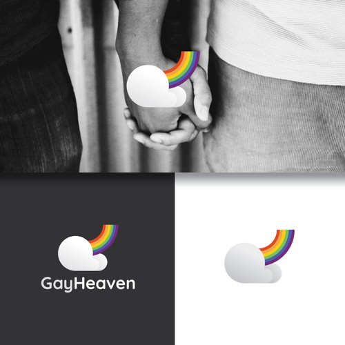 A Fun and Quirky Logo Design for Gay-Dating Site
