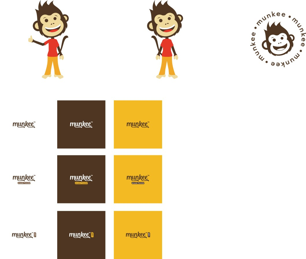 Design an Attractive and Fun logo for Munkee Superfoods (raw energy bars)