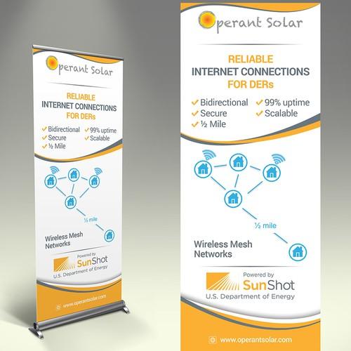 company tradeshow banner for tech-solar company