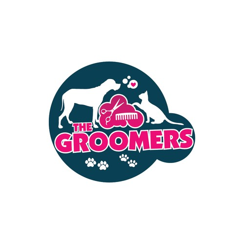 Logo Design for Grooming Truck