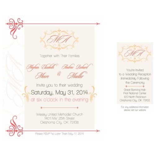 Art-Deco Inspired Wedding Invitation