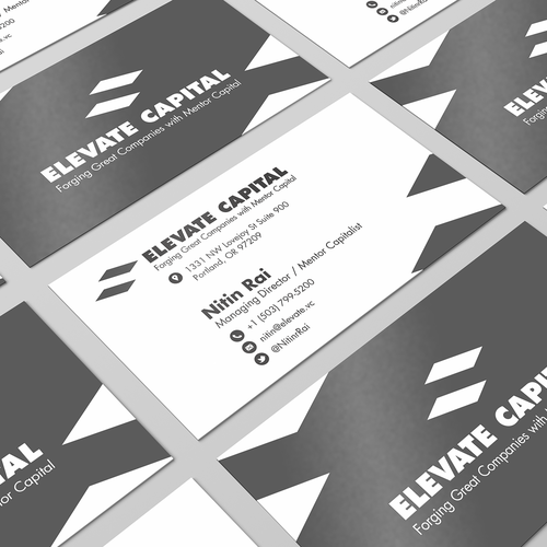 business cards design for Elevate Capital