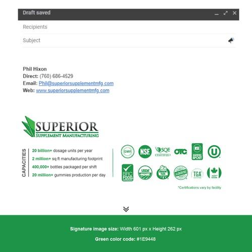 Custom email signature graphic - contest winner