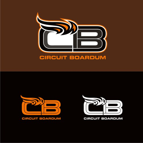 Bold logo concept for circuit boardum
