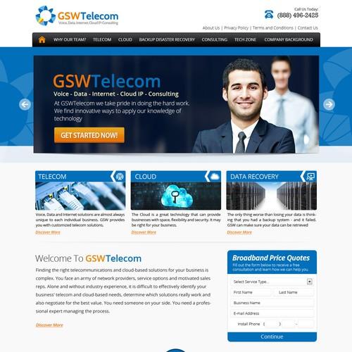 website design for GSW Telecom