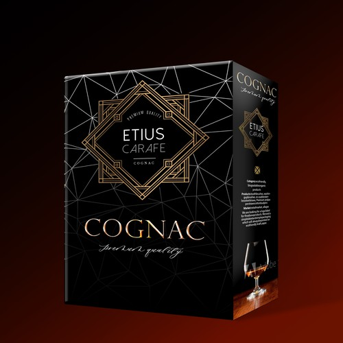 Elegant box for Cognac