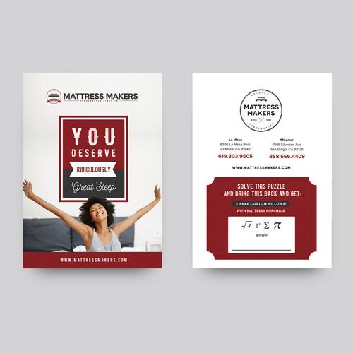 Mini flyer design for Mattress Makers