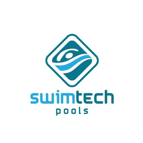 Modern fun logo design for a topnotch Pool company