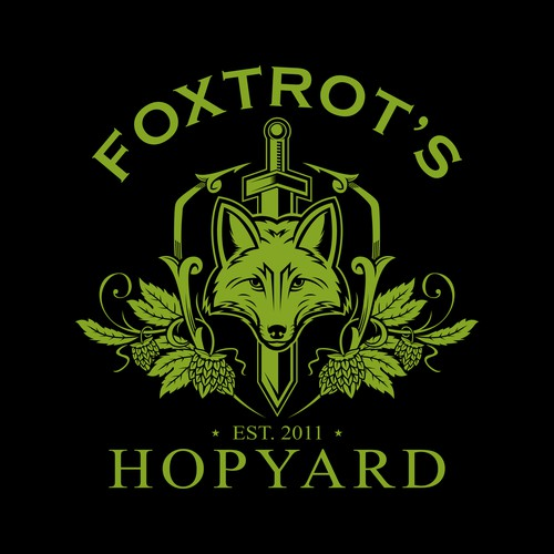 Luxury Fox Logo for Hopyard Company
