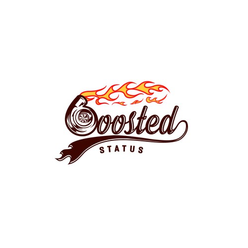 fire spitting logo for boosted status
