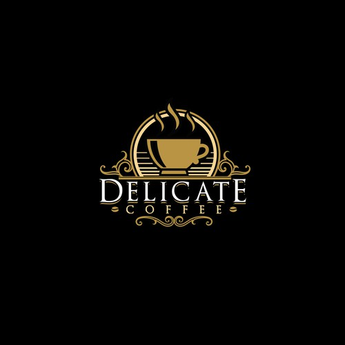 Elegant logo concept for coffee related business