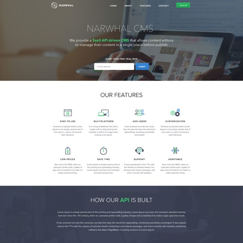 Narwhal Landing Page