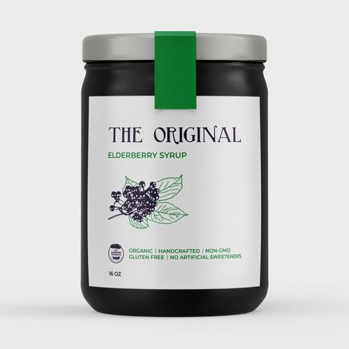 Elderberry Syrup Label