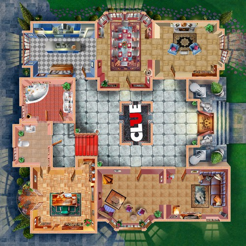 Create the new CLUEDO mansion for App gameplay