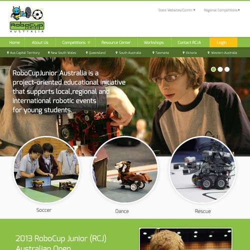 New website design wanted for RoboCup Junior Australia