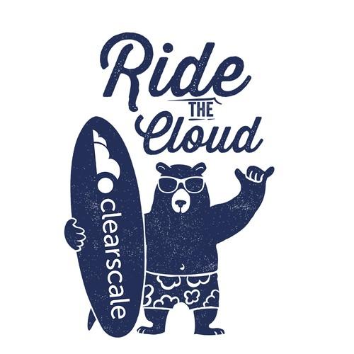 Bear Surfer T-shirt v2