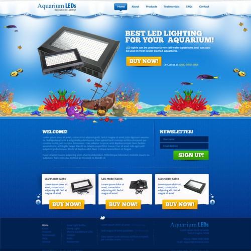 Website Design for Aquarium LEDs