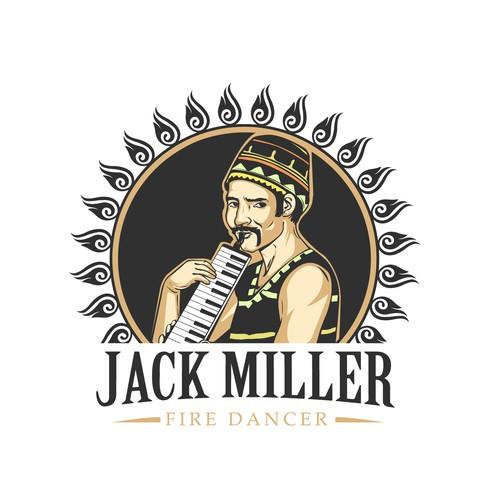 illustrative logo concept for Jack Miller
