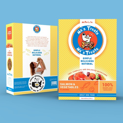 dog treats packaging for startup company